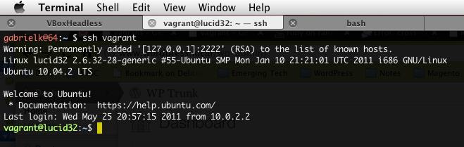 VirtualBox, Vagrant and Mac OS X: instant linux development